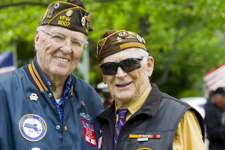 Veterans posing for a picture together