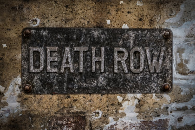 Grungy Death Row Sign At A Maximum Security Prison