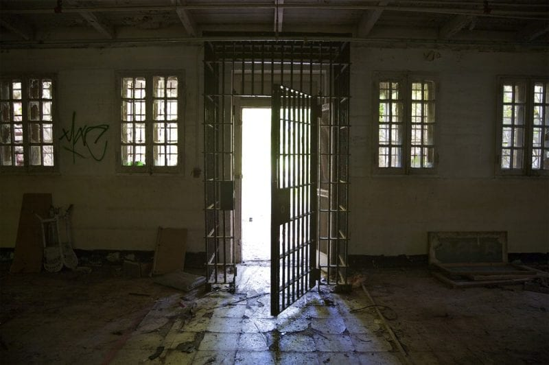 picture of georgia prison cell dark
