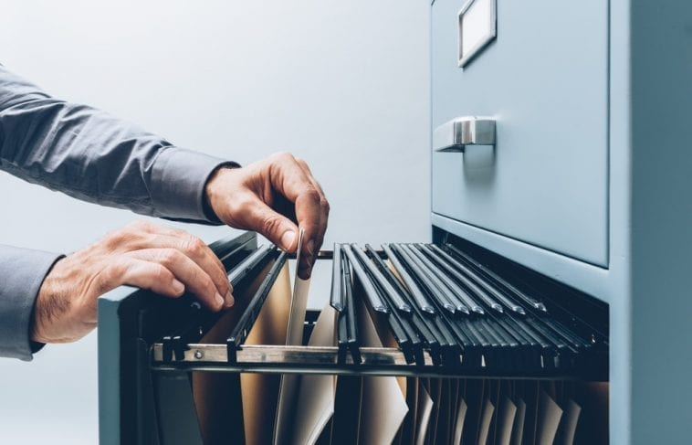 background check file cabinet